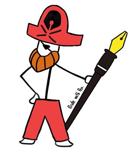 Pirate with Pen